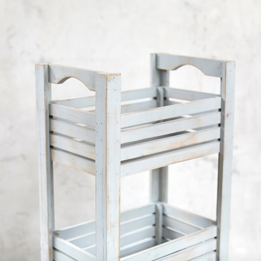 Shabby Chic Storage - Wooden Floor Caddy - Style 1