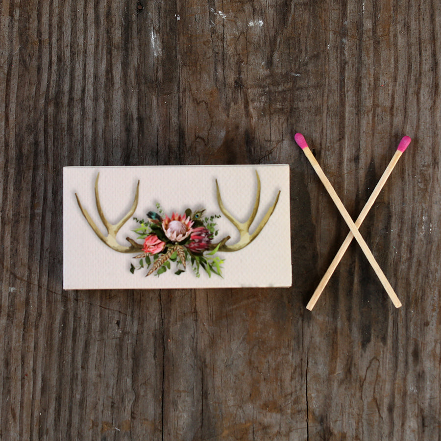 Boho Antler Matches