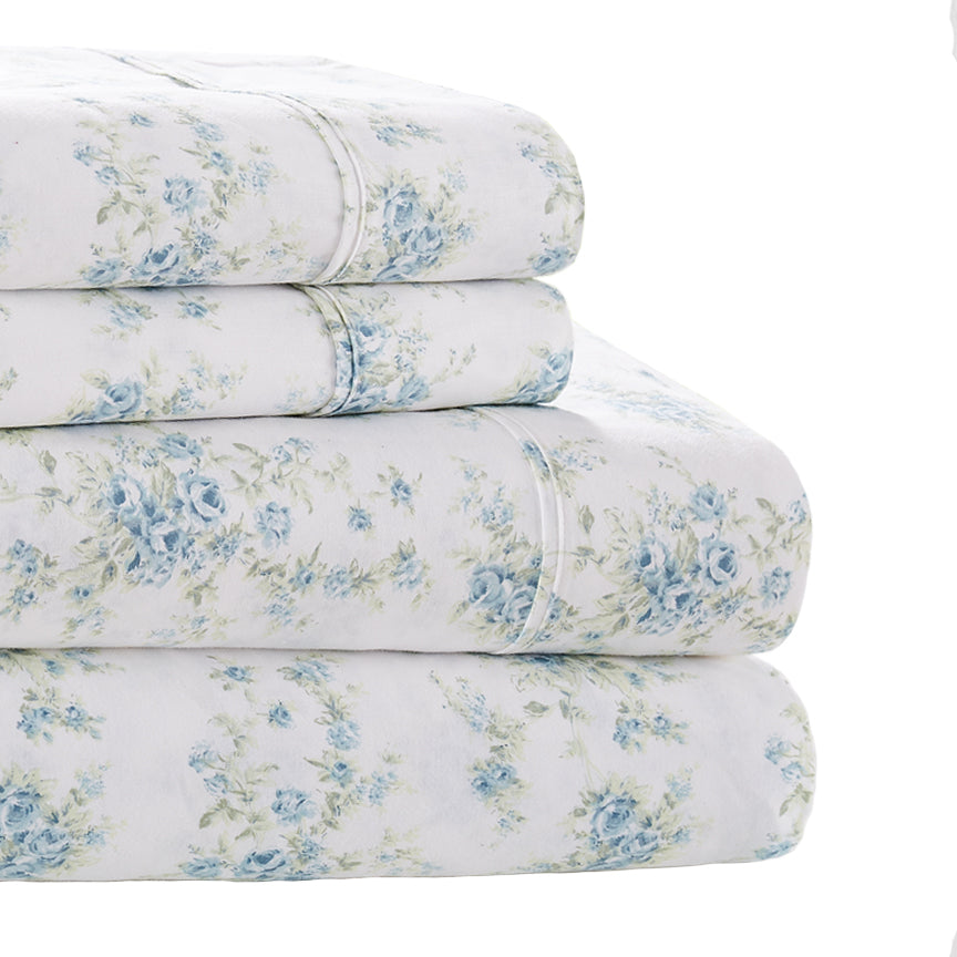 Shabby Chic® Bedding Collection - Fleur Blue Sheet & Sham Set - Online Exclusive