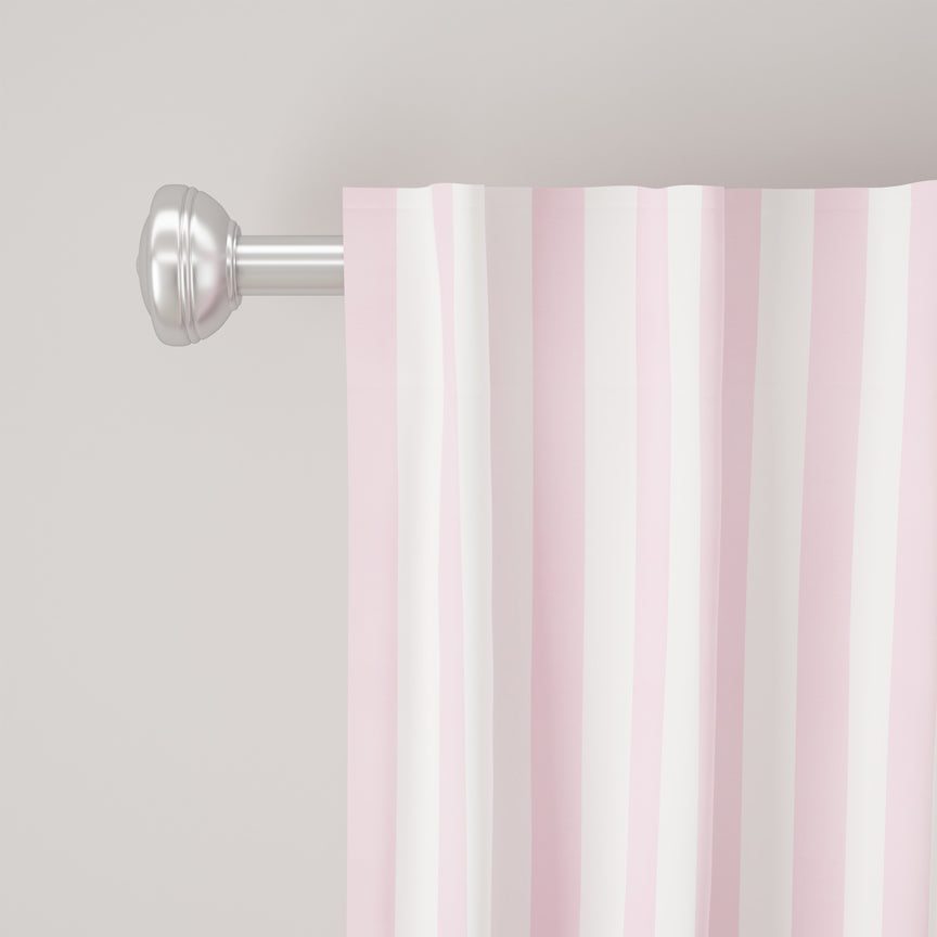 Shabby Chic Curtain Collection - Cabana Stripe Pink