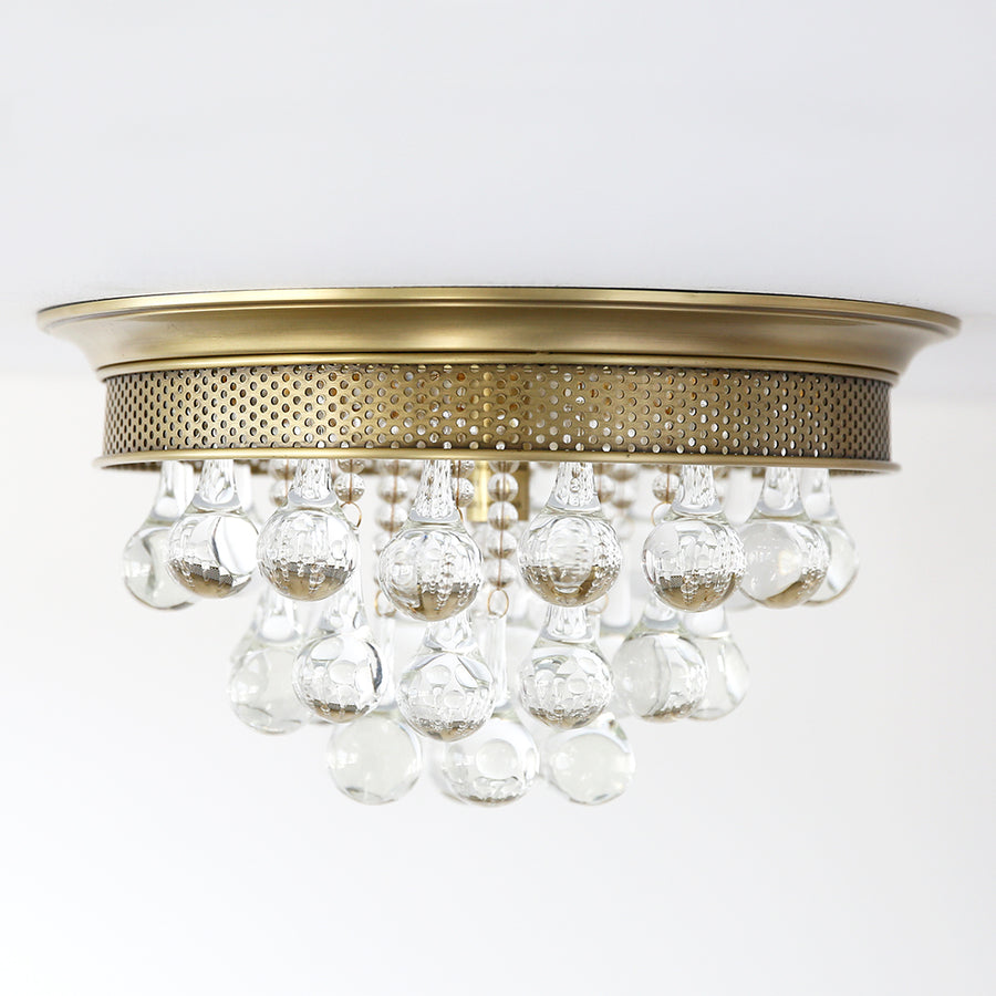 Crystal Drop Ceiling Mount Light