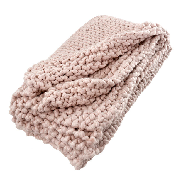 Chunky Pink Throw