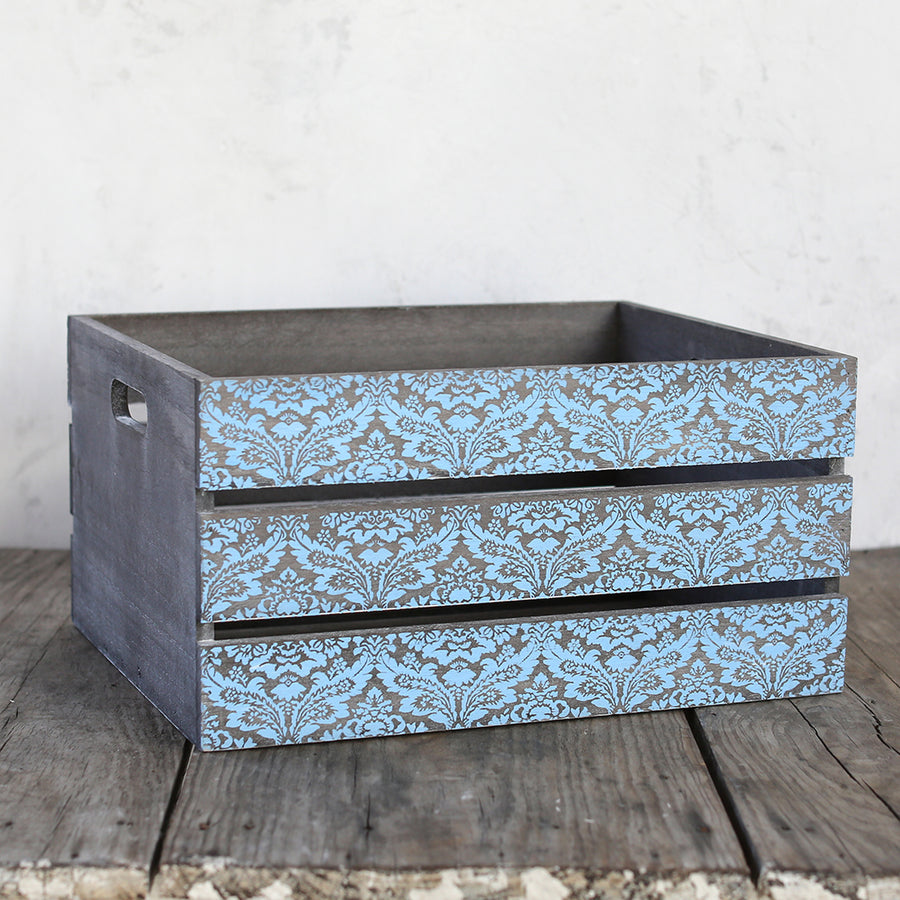 Shabby Chic Storage -  Set of 3 Multi Color Crates