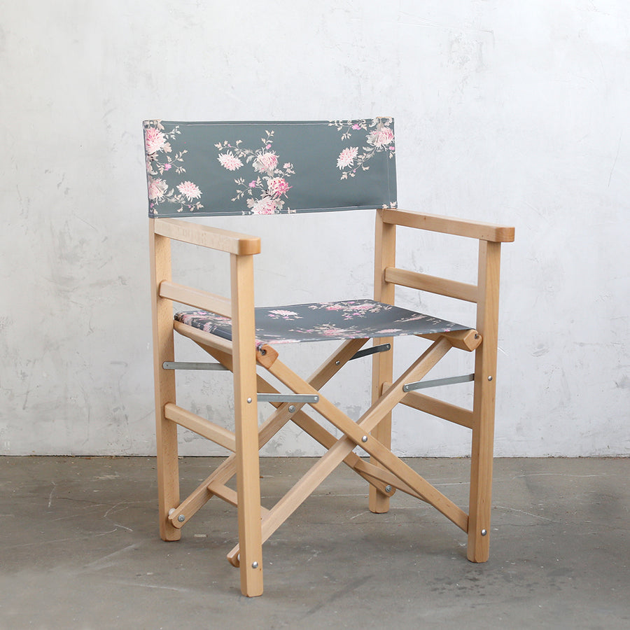 Shabby Chic Furniture - Director Chair Dancing Dahlia