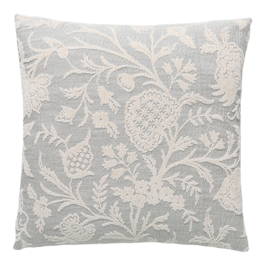 Ivory Damask Chenille Pillow