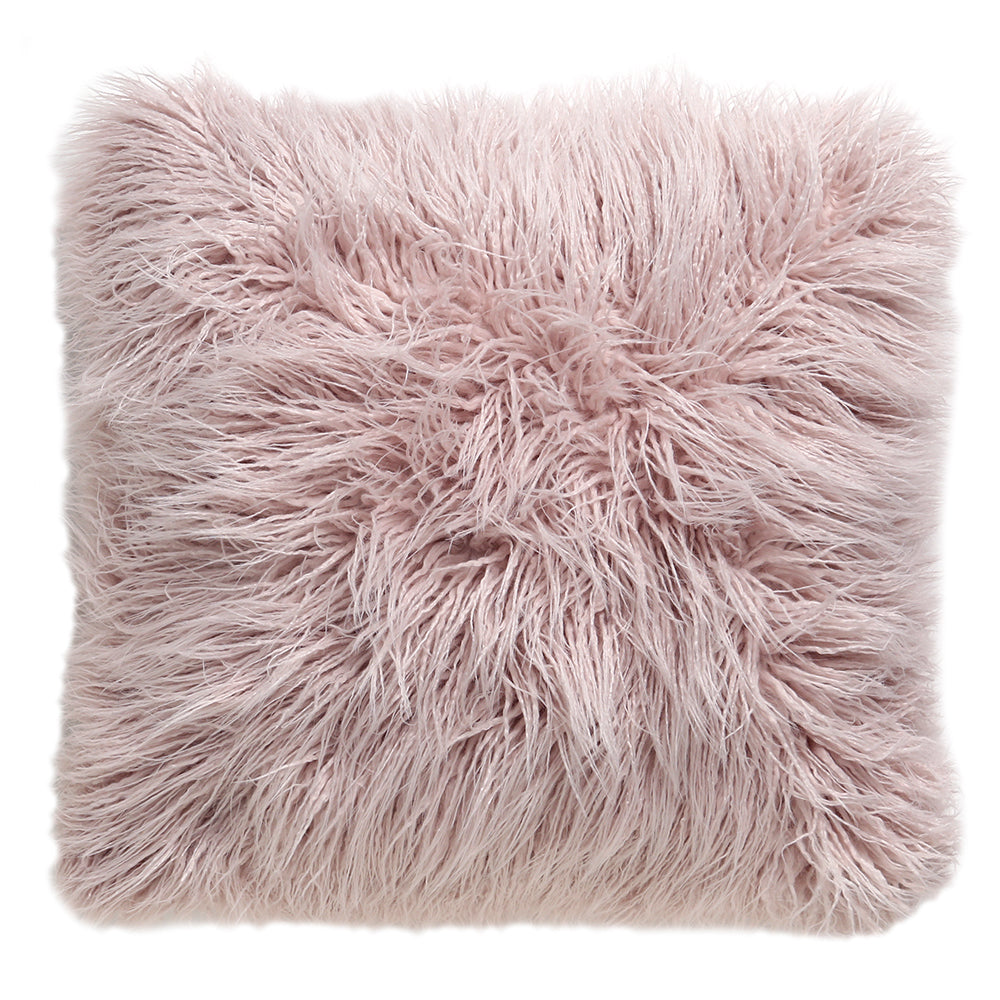 Dusty Pink Faux Fur Pillow – Rachel Ashwell Shabby Chic Couture