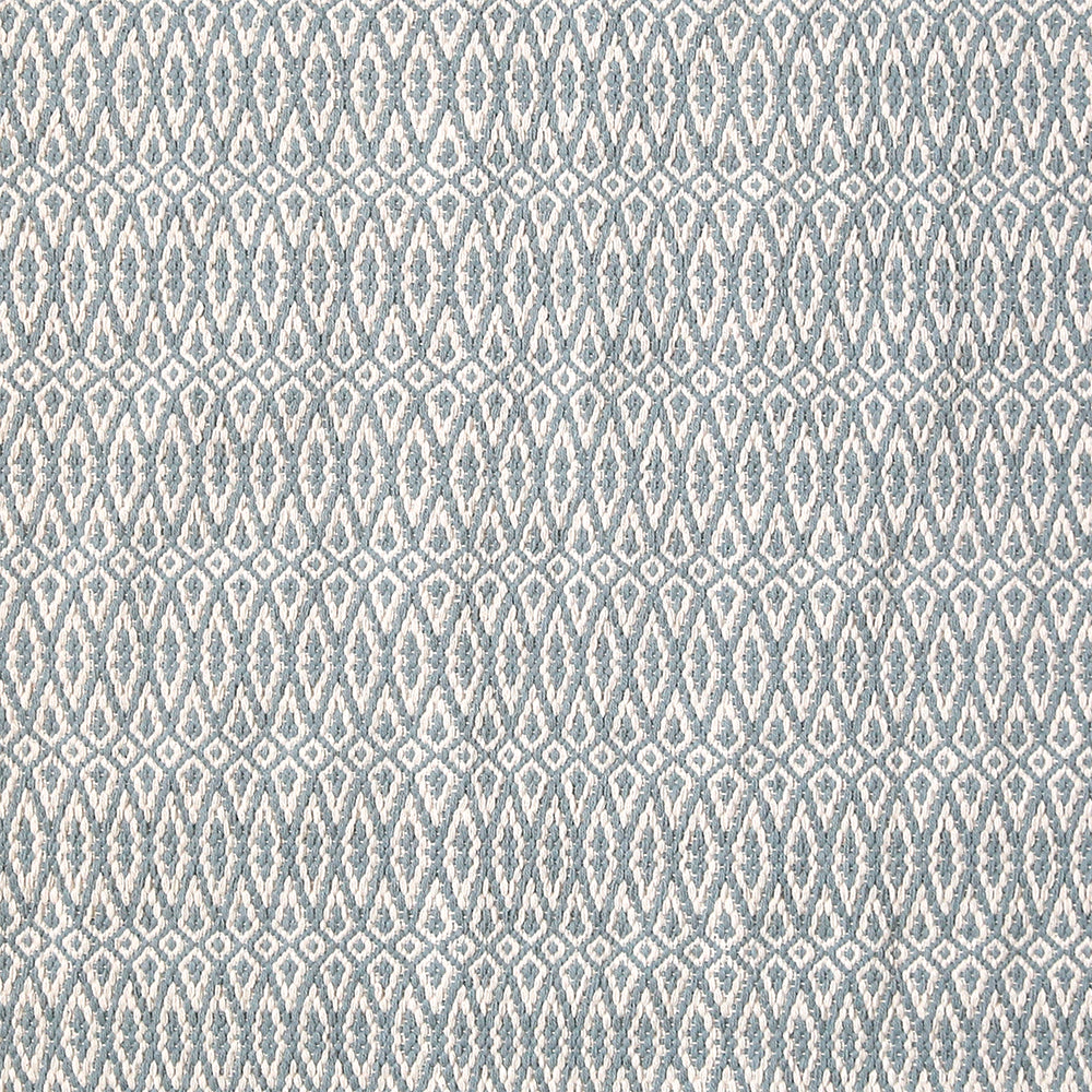 Fair Isle Blue/ Ivory Cotton Rug