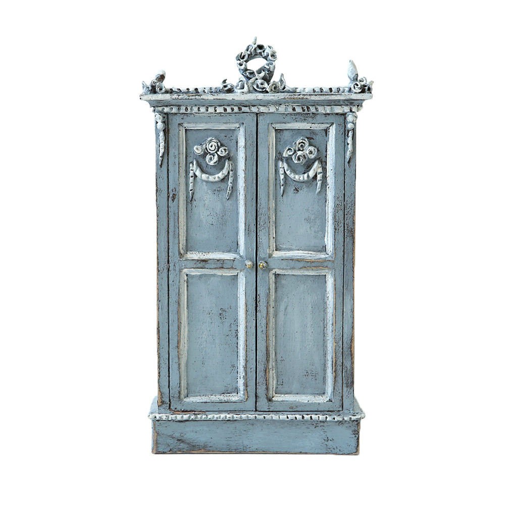 Shabby Chic Armoire dollhouse furniture - grey armoire – rachel ashwell shabby chic couture