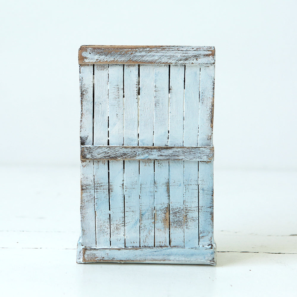 Dollhouse Furniture - Hooked White/Blue Cupboard