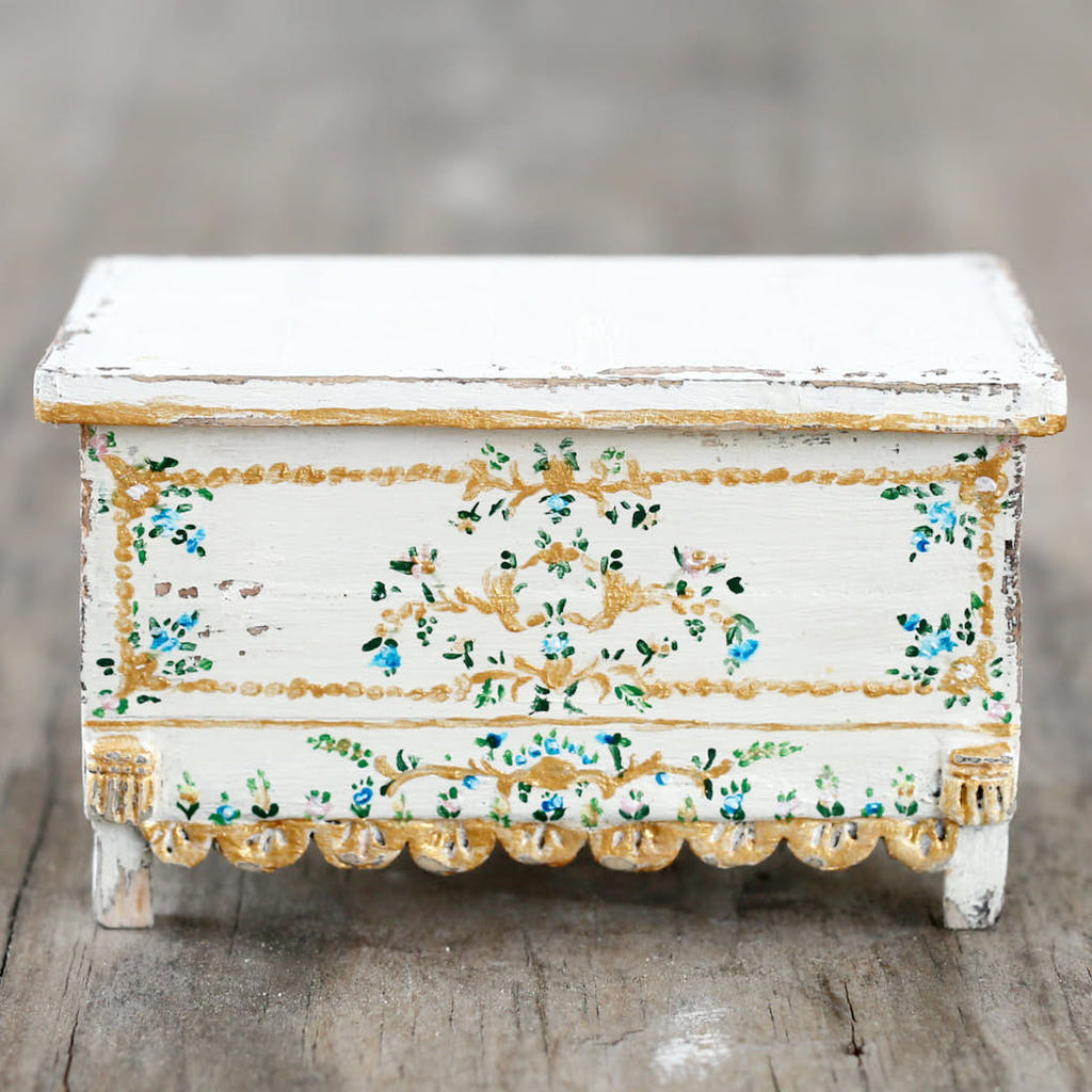 Dollhouse Furniture - Painted Spanish Trunk