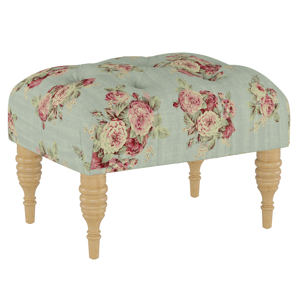 Shabby Chic Furniture - Fifi Tufted Ottoman - More Colors