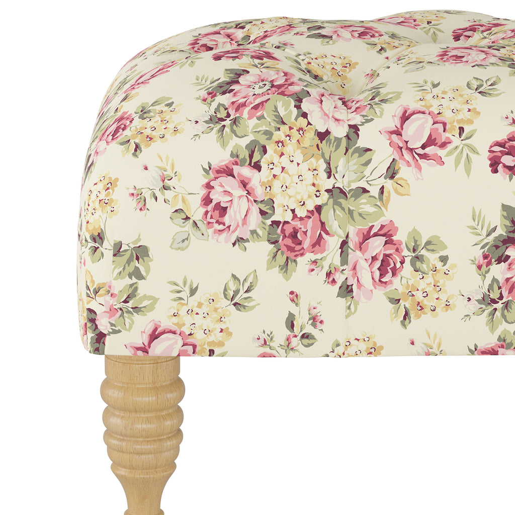 Shabby Chic Furniture - Floyd Tufted Bench - More Colors