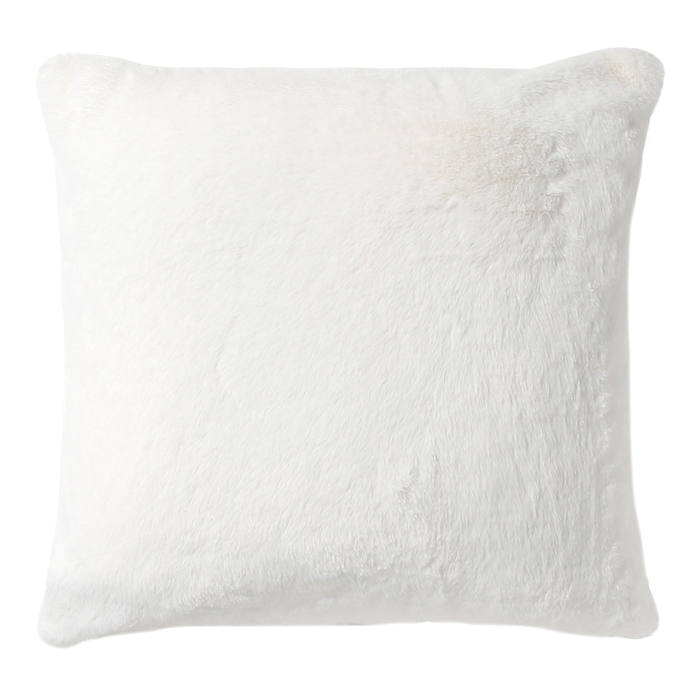 Soft White Faux Fur Pillow