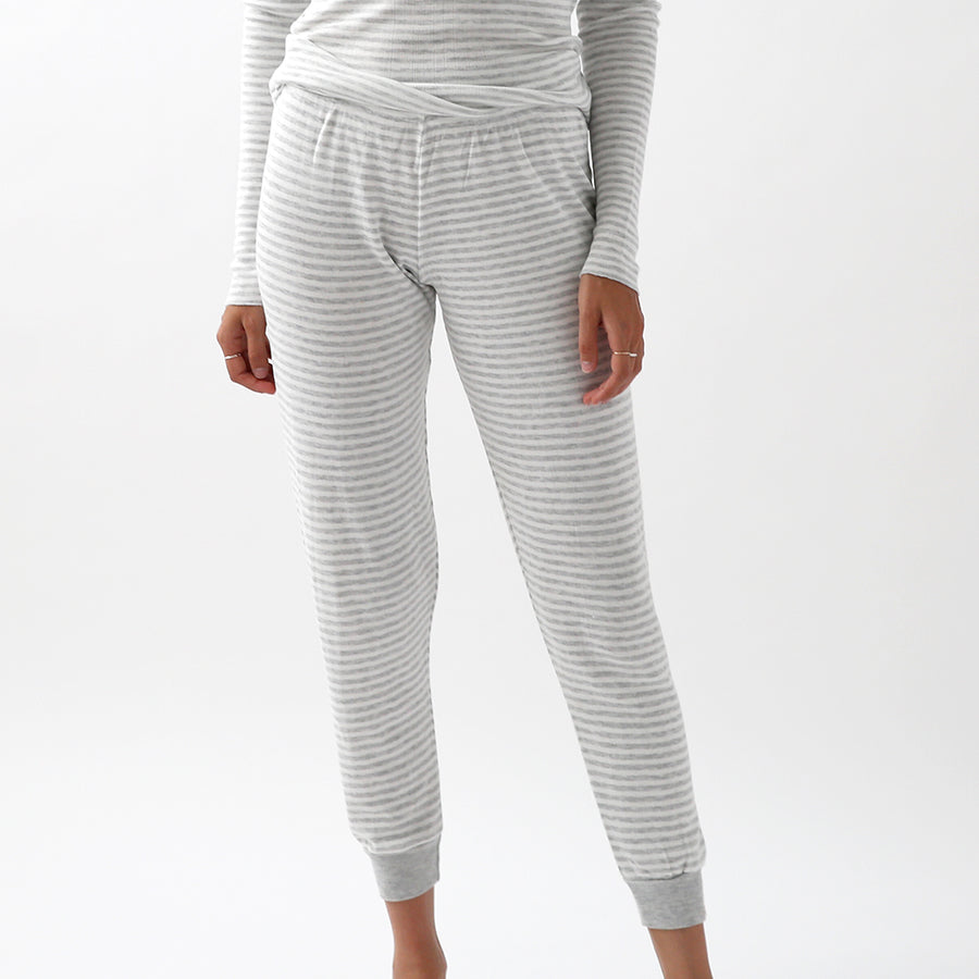 50% OFF Polkadot Sleep & Lounge Wear - Grey Stripe Jogger Pant