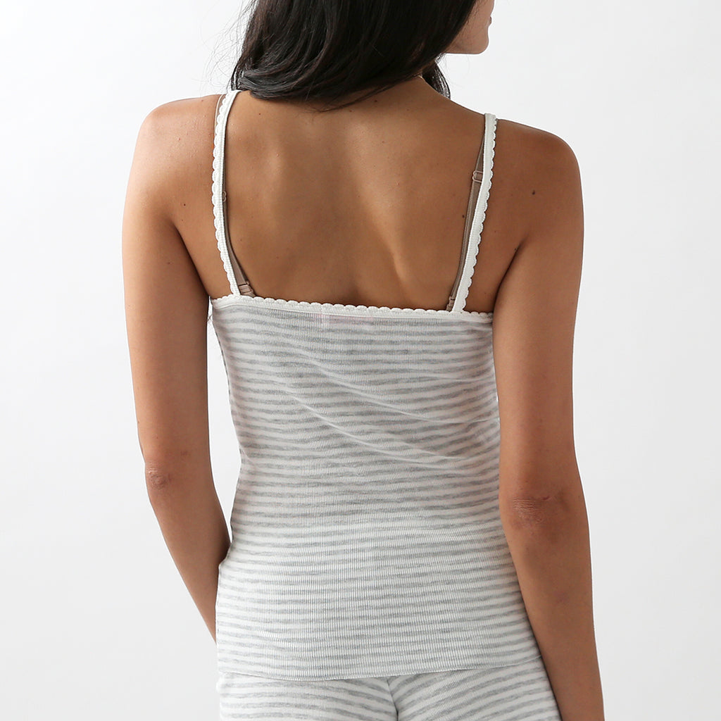 30% OFF Polkadot Sleep & Lounge Wear - Grey Stripe Cami