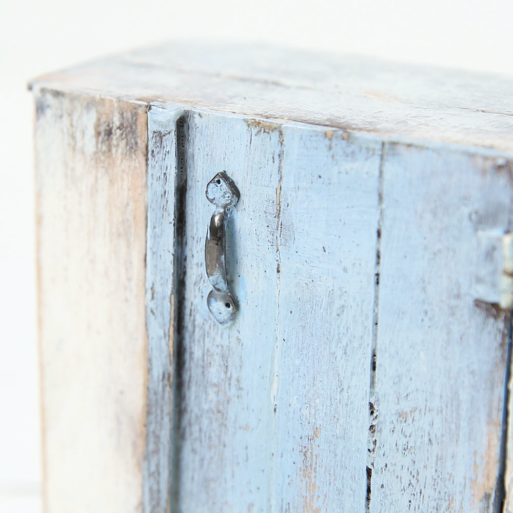 Dollhouse Furniture: Tiny Harley Blue Sideboard