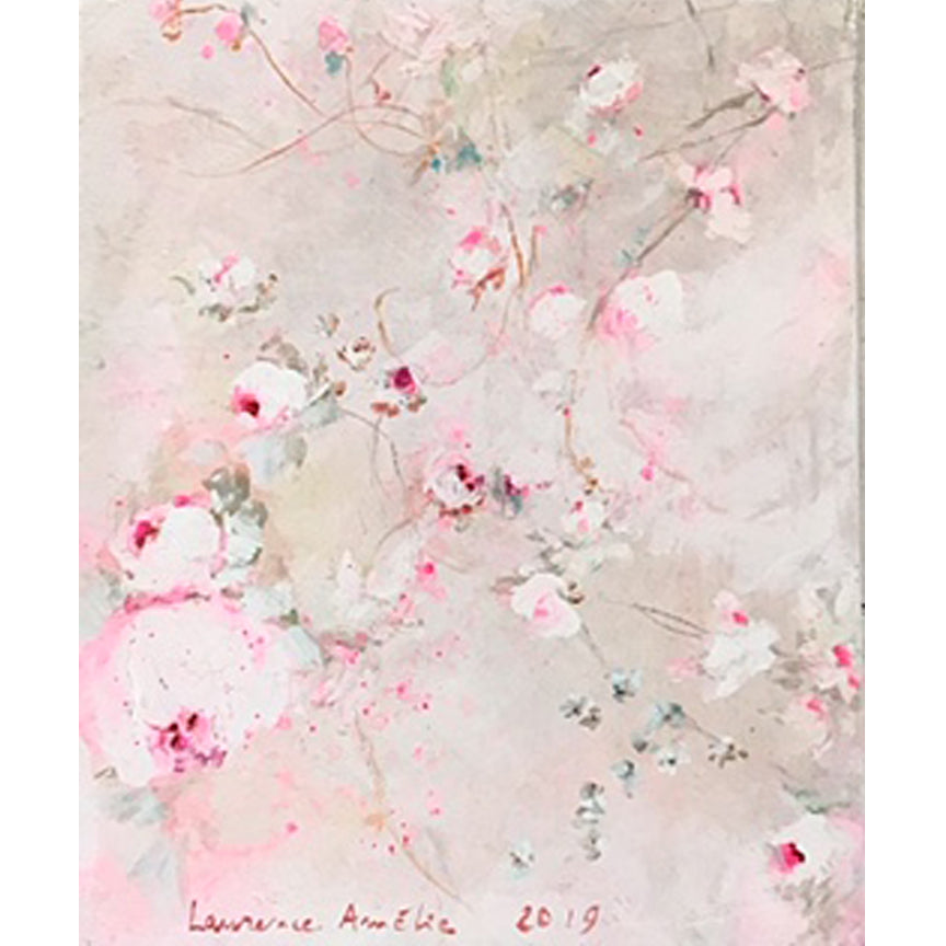 Laurence Amelie Original Painting - Pink Floral - Available in Santa Monica