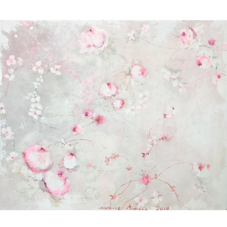 Laurence Amelie Original Painting - Pink Floral 2 - Available in Santa Monica