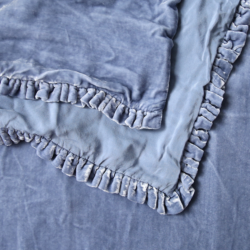20% OFF Silk Velvet Coverlet Indigo