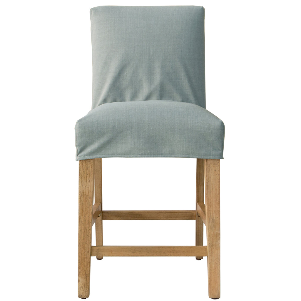 Shabby Chic Furniture - Swallow Slipcover Counter Stool - More Colors