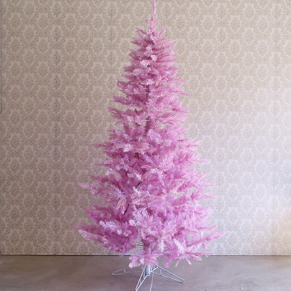 VIOLET SPARKLE Tree 6.5ft with Lights