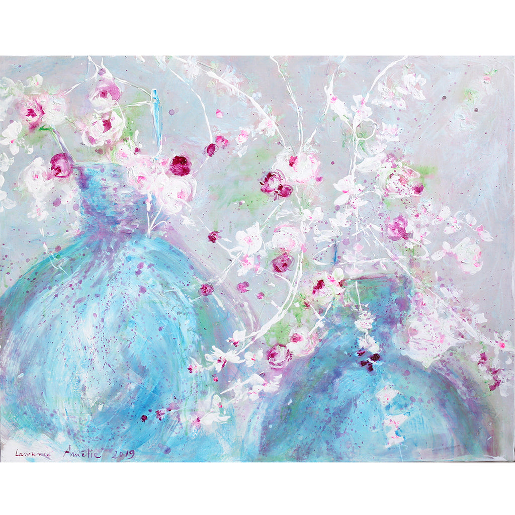 Laurence Amelie Original Painting - April Shower Tutu  - Available in Santa Monica