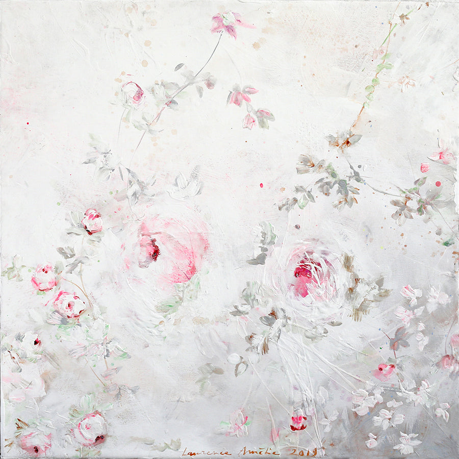 Laurence Amelie Original Painting - Pink White Floral 4 - Available in Santa Monica