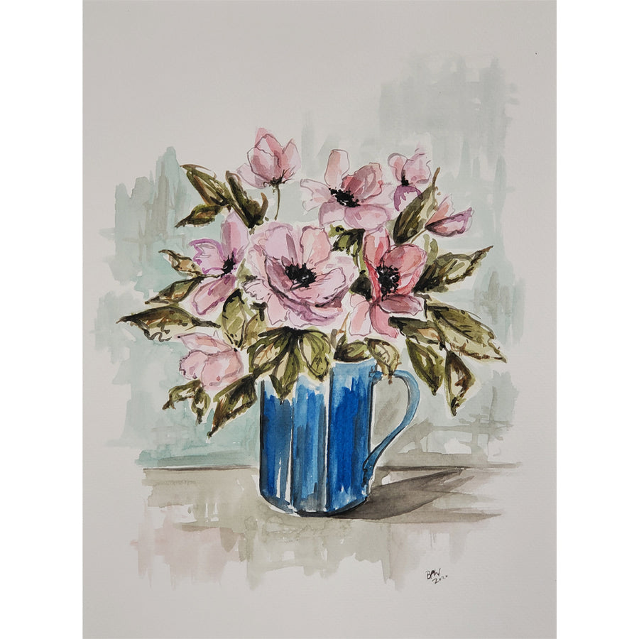 Ben Peck-Whiston Original Painting - Little Blue Mug