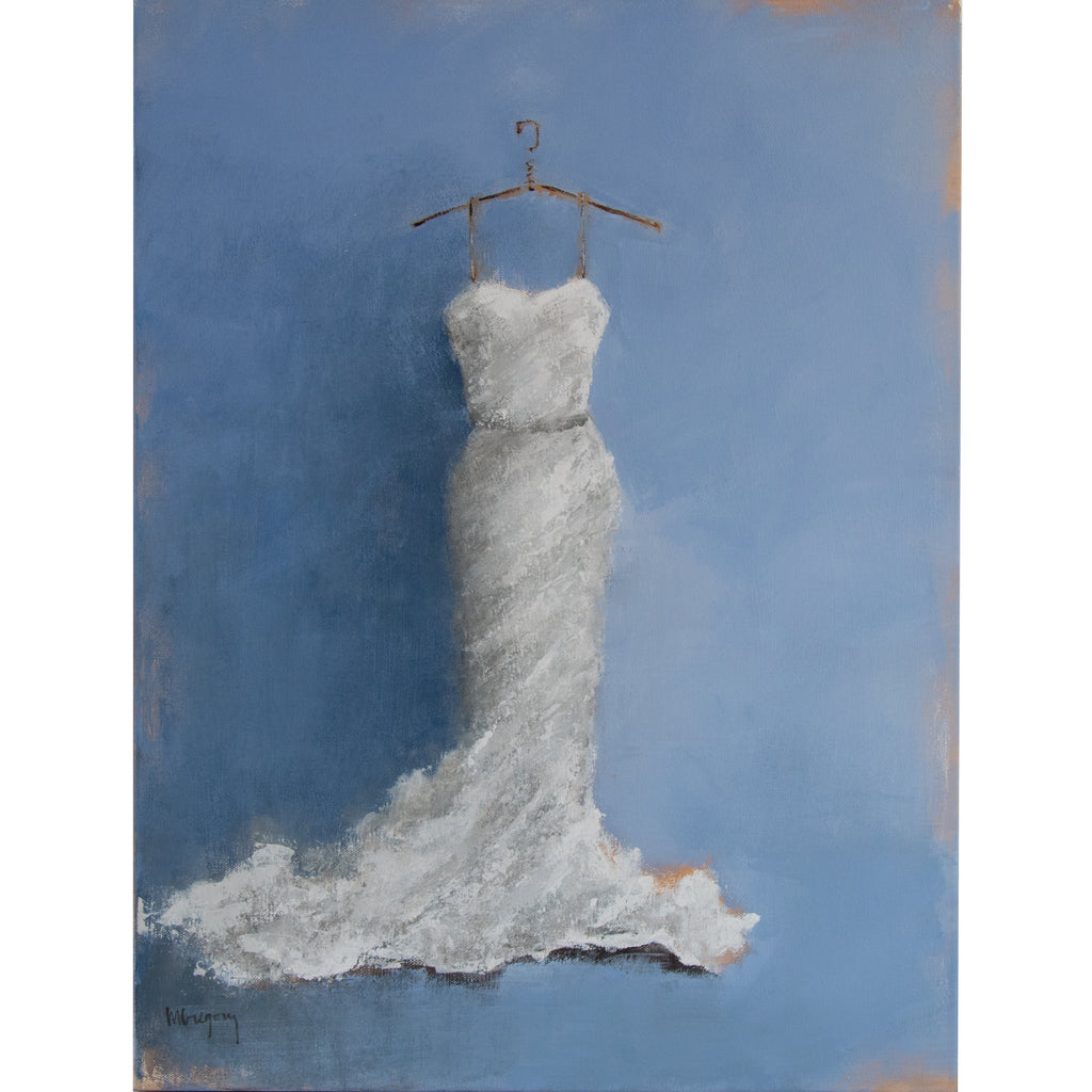 Mary Gregory Original Painting - White Wedding Dress
