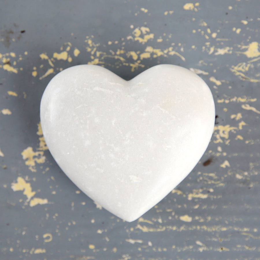 Decorative Heart White Marble