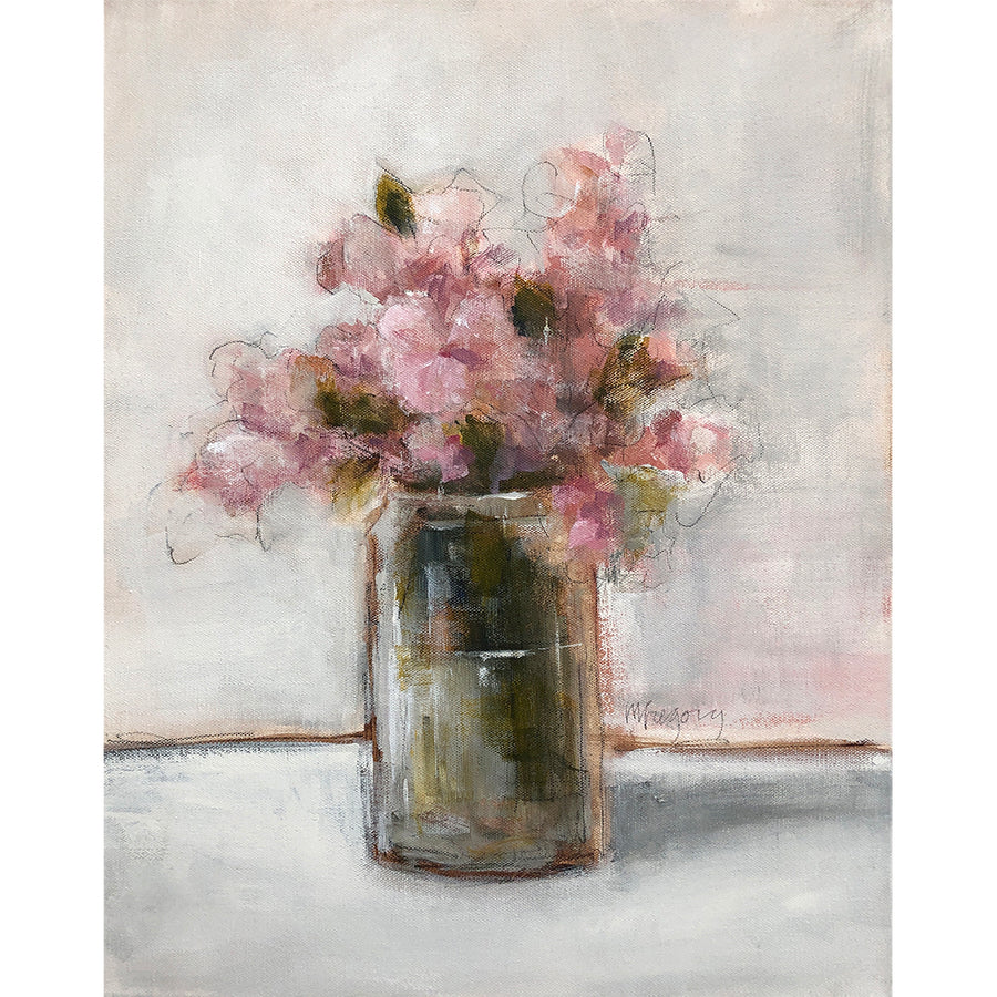 Mary Gregory Original Painting - Wildflower in Jar - Available in Santa Monica