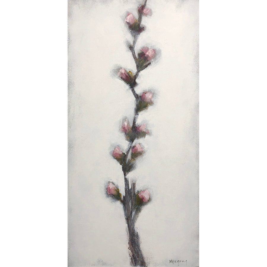 Mary Gregory Original Painting - Quince Stem 3