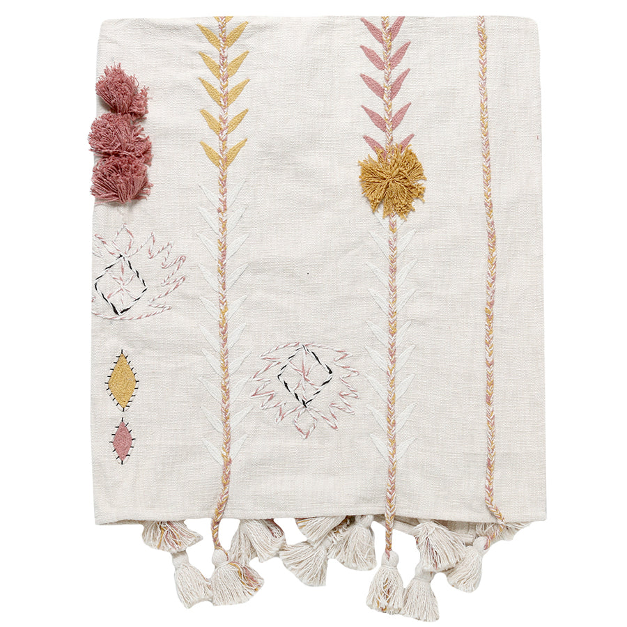 Boho Tassel Throw