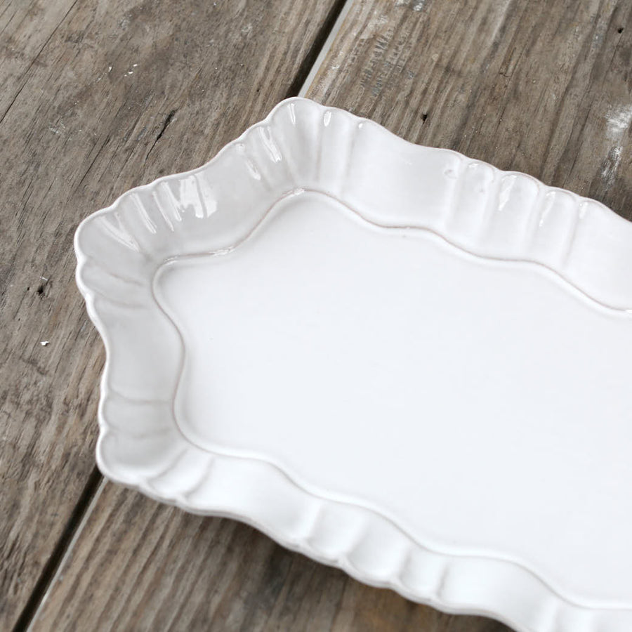 20% OFF White Whimsy Terracotta  Platter