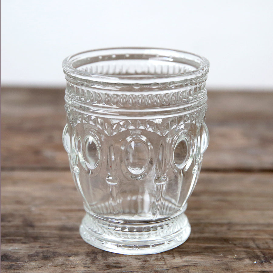 Clear Embossed Glass