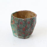 Dollhouse Furniture: Set of 4 Floral Paper Mache Pots
