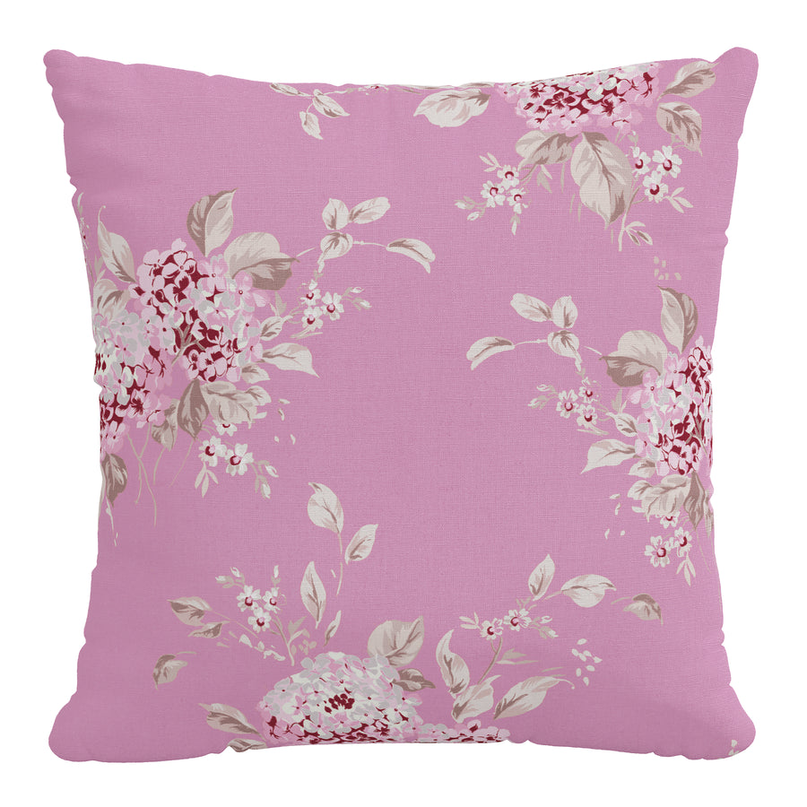 Rachel Ashwell x Cloth & Company - Linen Pillow - Berry Bloom Hot Pink