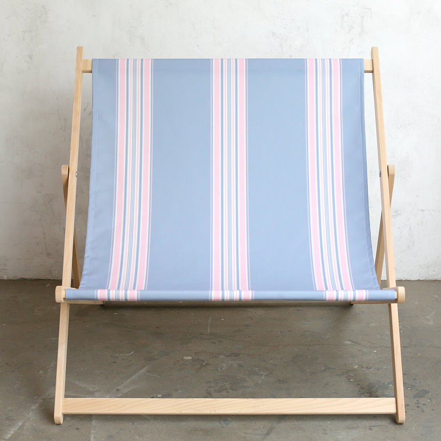 Shabby Chic Furniture - Deck Chair Blue/Pink Stripe