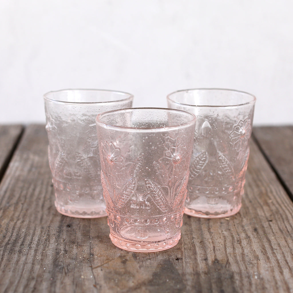 Daisy Blush Embossed Glasses