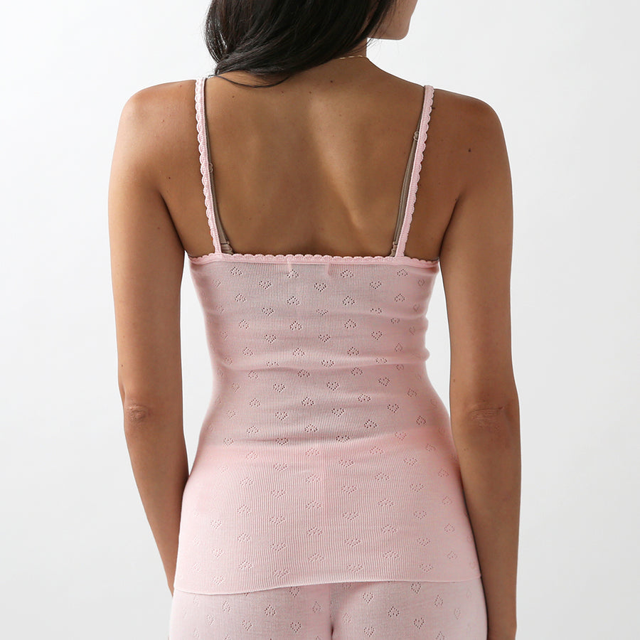 50% OFF Polkadot Sleep & Lounge Wear - Pink Vintage Cami