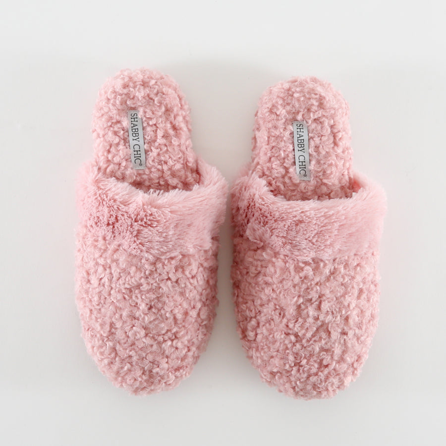 Pink Fuzzy Slide Slipper