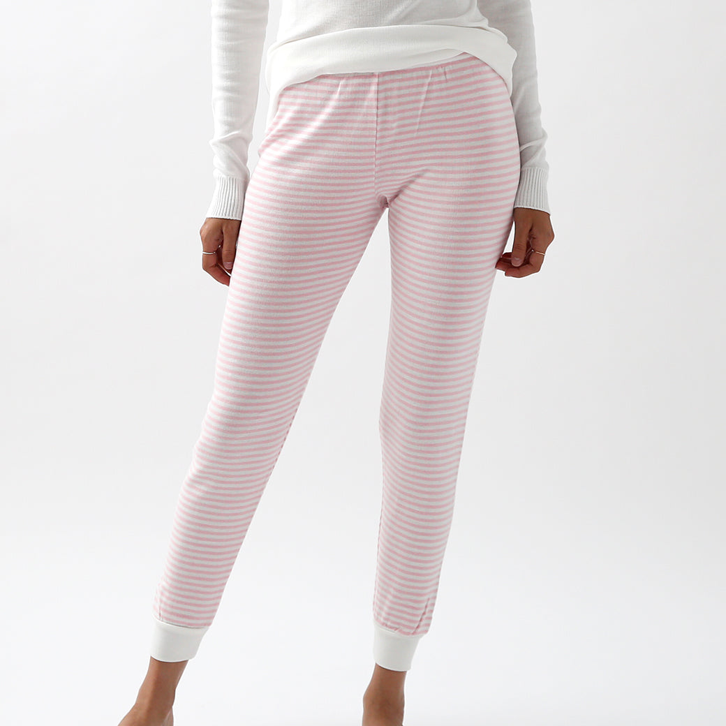 Polkadot Sleep & Lounge Wear - Pink Stripe Jogger Pant