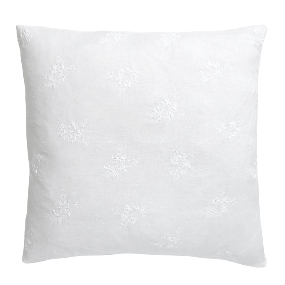 Rose Embroidered Pillow