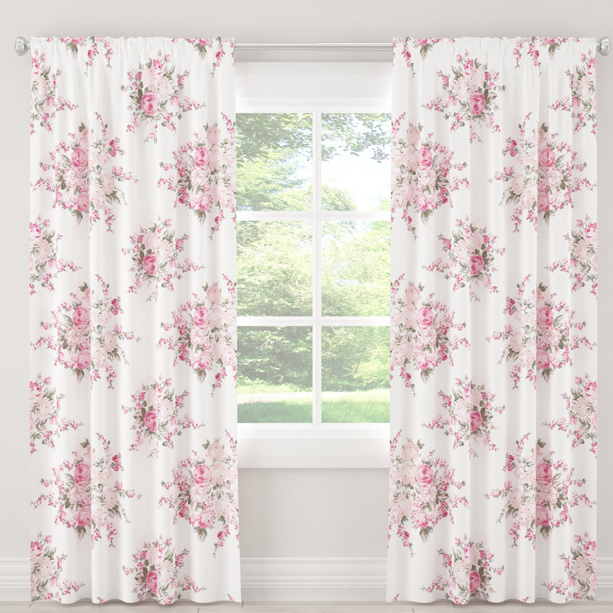 Shabby Chic Curtain Collection - Roseblossom Pink