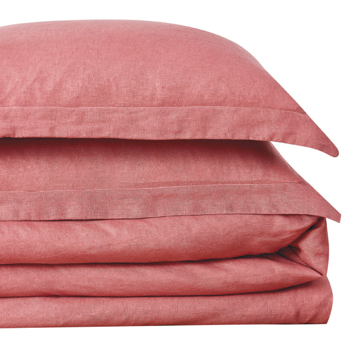 Shabby Chic™ Bedding Collection - Linen Duvet and Sham Set - Dusty Rose - Online Exclusive