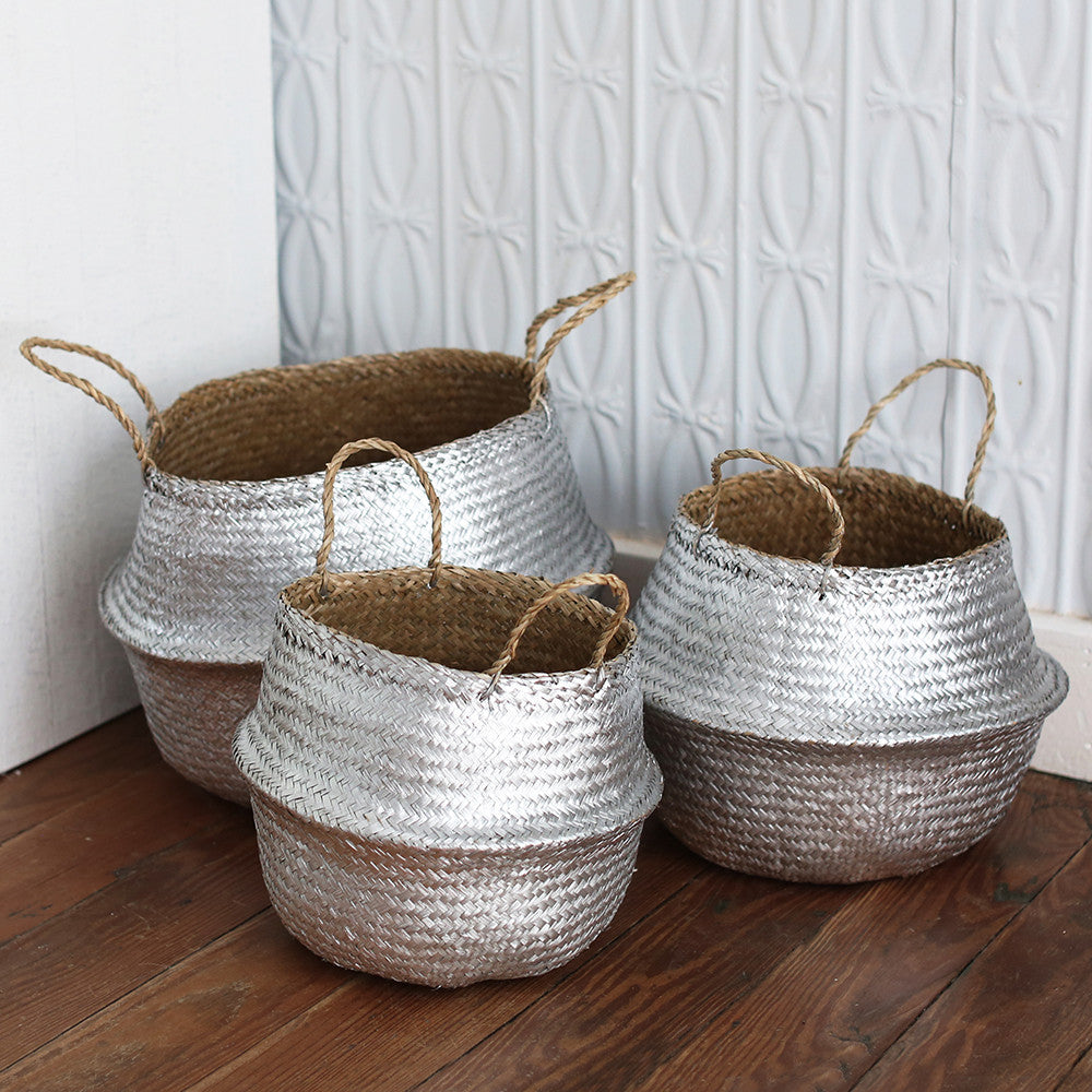 Metallic Seagrass Basket