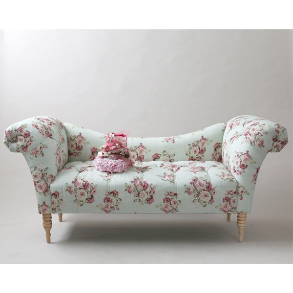 Shabby Chic® Furniture - Savannah Tufted Chaise Lounge - Manor Floral Sage