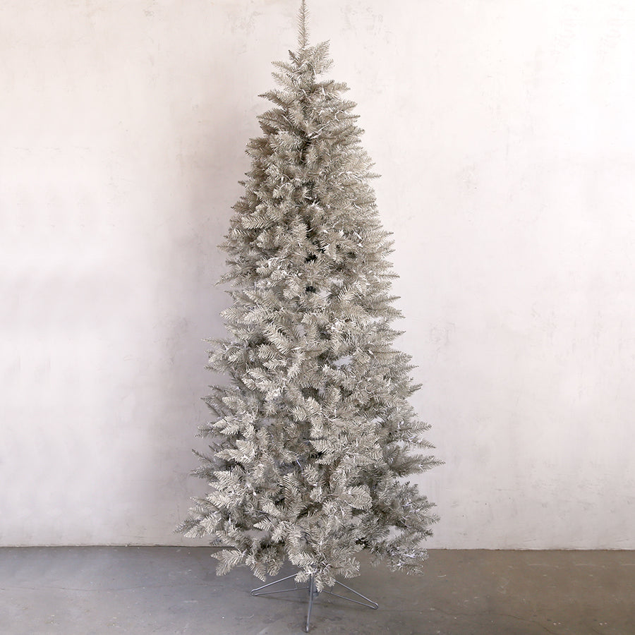 30% OFF Platinum Tinsel Tree  with Lights