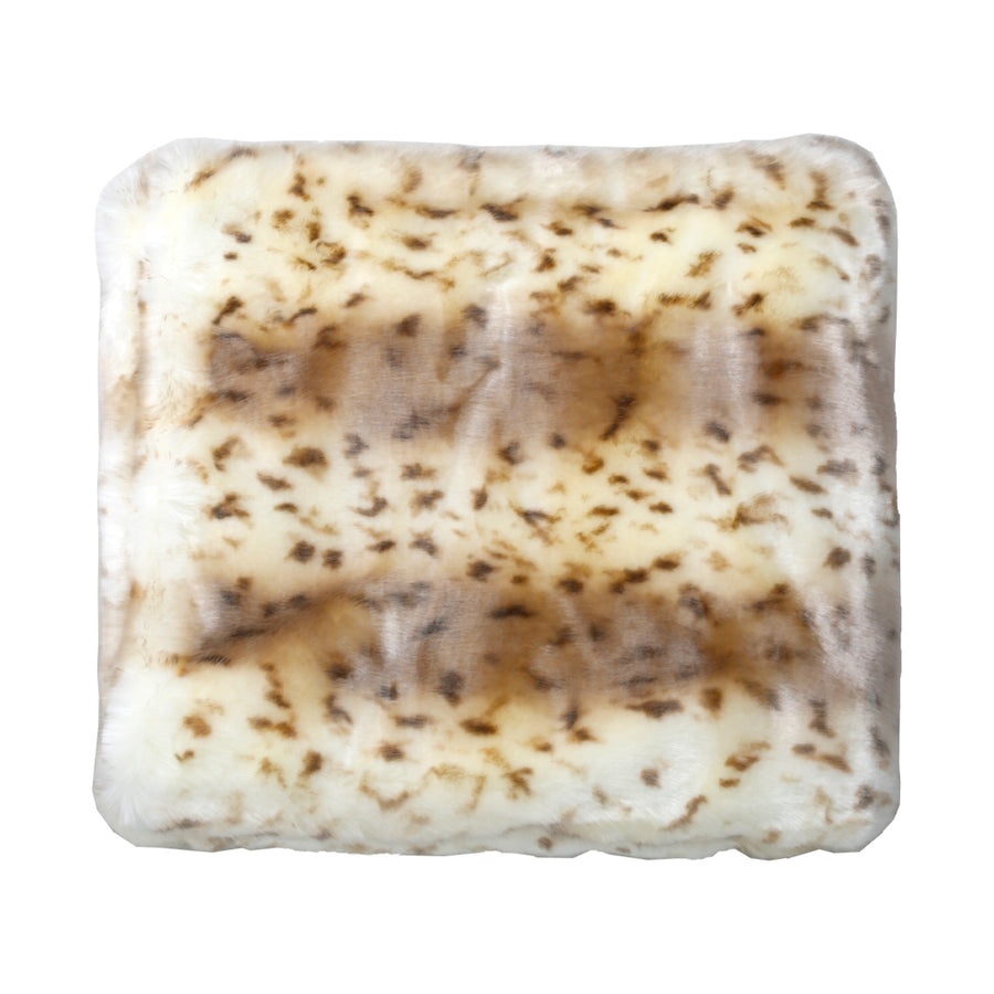 Snow Leopard Faux Throw