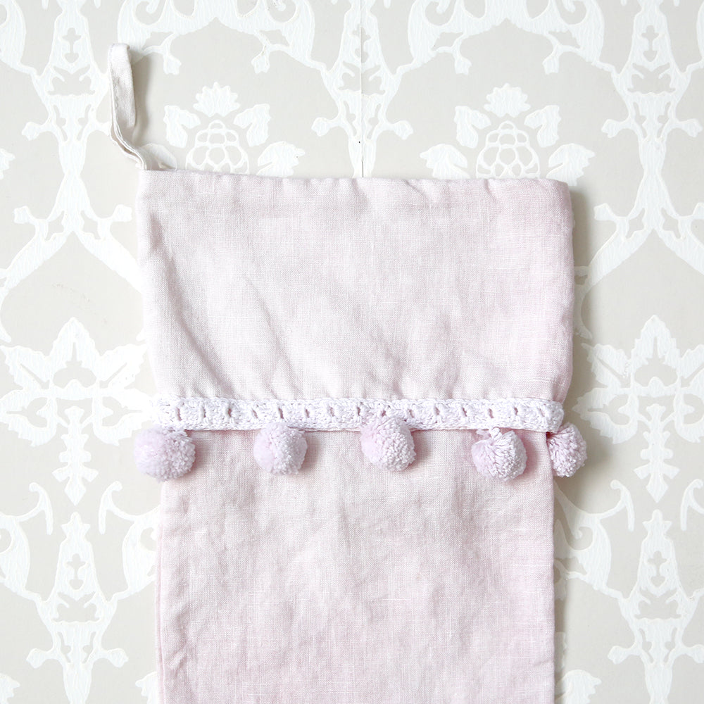 Pom Pom Stocking-Pink